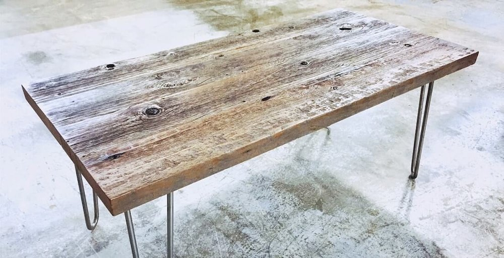 custom reclaimed wood cocktail table quint handmade furniture denver