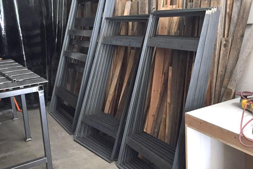 Custom Furniture In Denver Raw Steel Frames