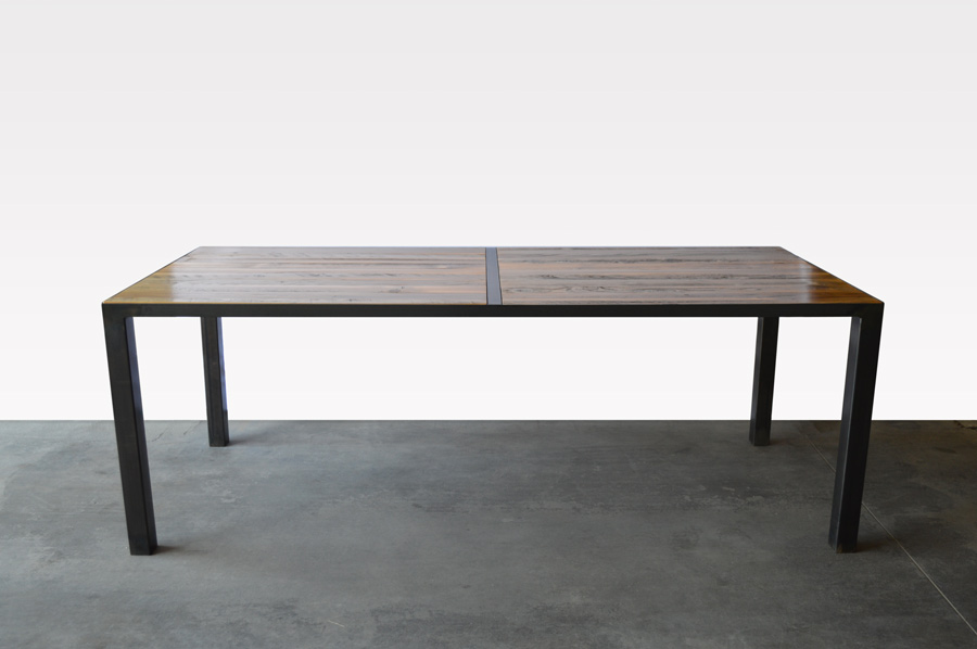 Custom Furniture In Denver Local Reclaimed Wood And Steel Dining Table
