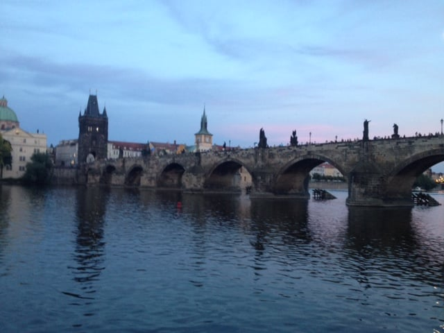 Along its sides the Charles Bridge carries a gallery of 30 statues of saints and other religious figures.