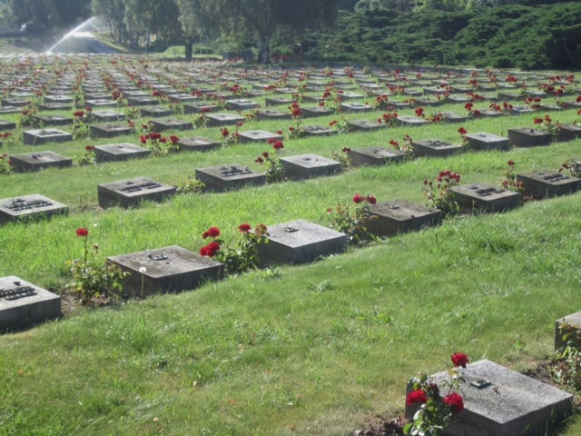 Graveyard outside the Terezin fortress walls.