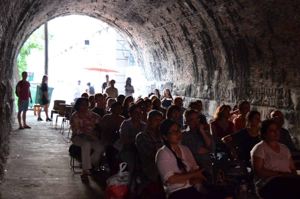 Audience at 12 Gates Video Art Festival in Philadelphia, June 2015
