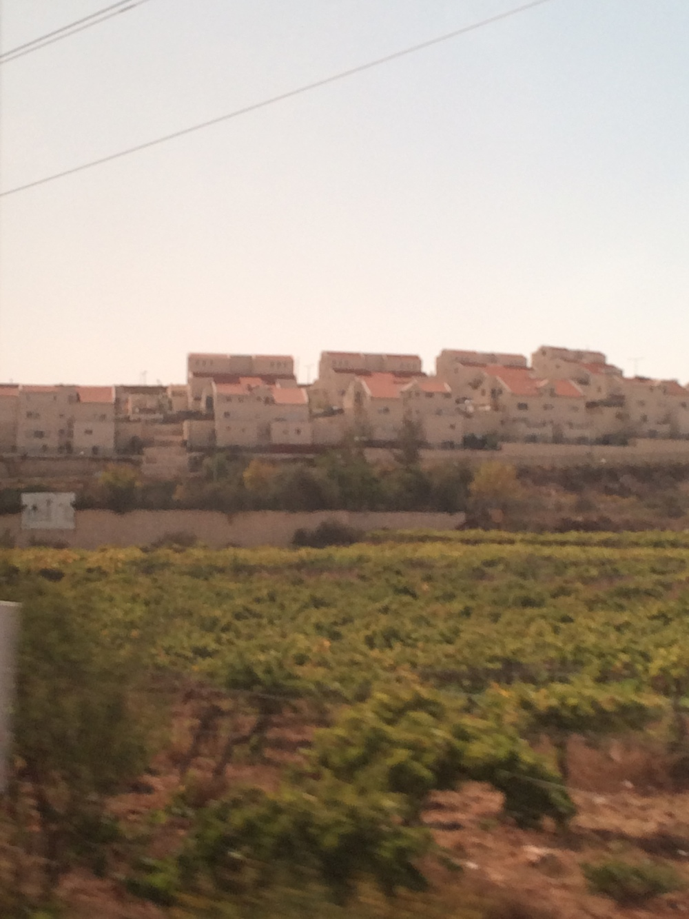 A hilltop settlement. Sorry for the blur-I took this picture from a moving car.