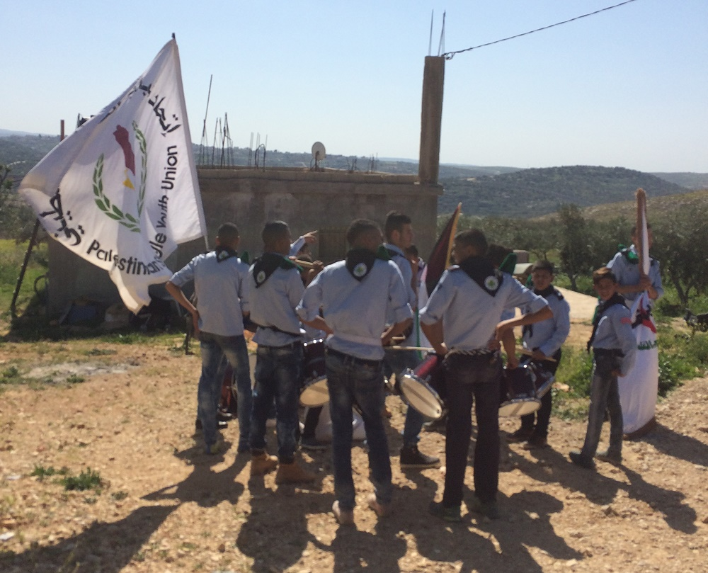 These Palestinian Boy Scouts marched with the group