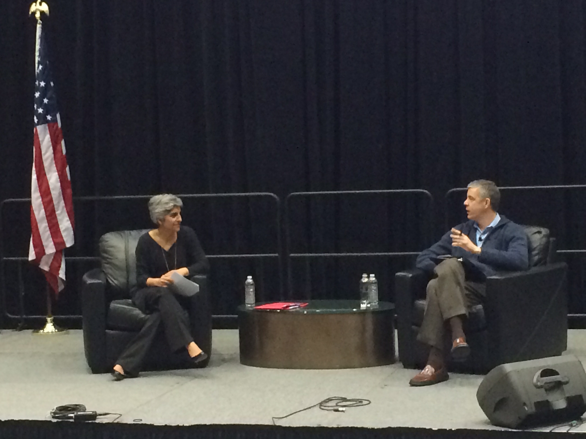 The armchair discussion between Kiran Ahuja and Arne Duncan during the ECAASU 2014 Conference Opening Ceremony.