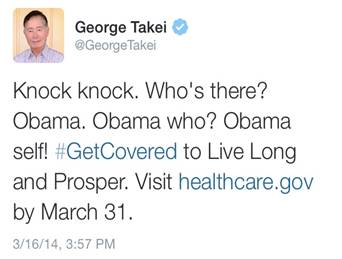 George Takei and the ACA