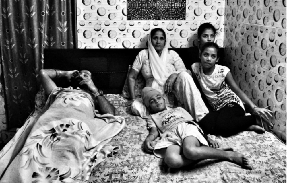 Sikh families in the aftermath of the deadly killings of their husbands and brothers. Photo Credits:  The Logical Indian Crew