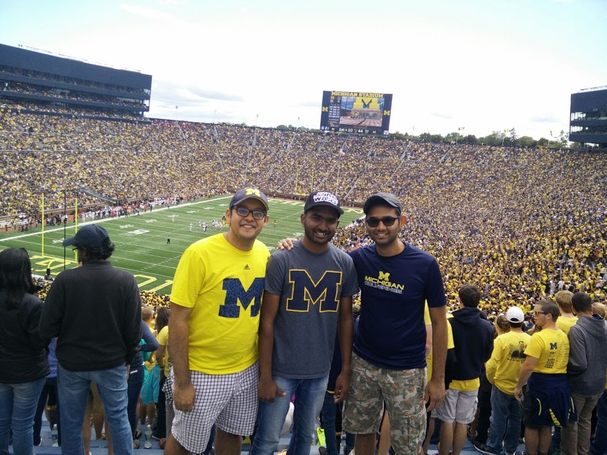 Nothing can beat the experience of watching a game at the Big House with friends. #GoBlue!