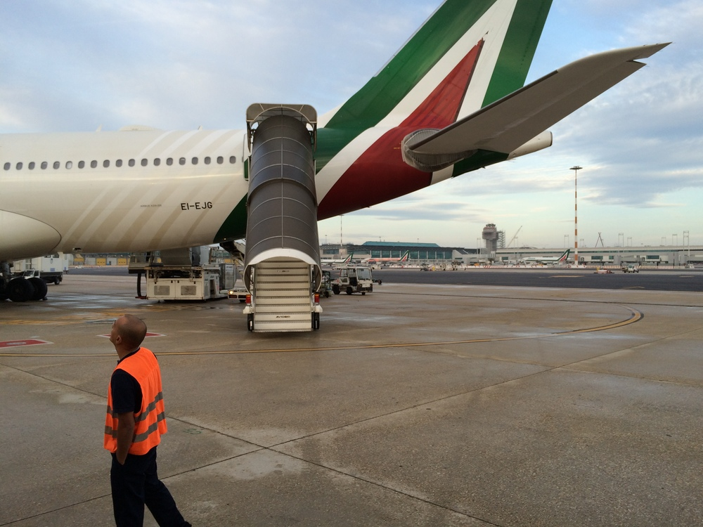 Alitalia has some good lookin' planes. Dat's a purdy plane right there. Mmmhm.