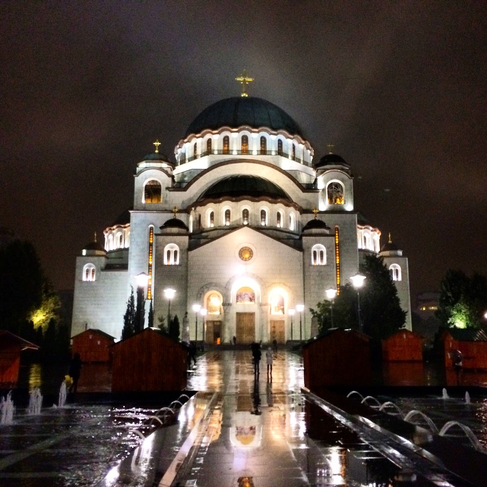 BOOM! This is the Temple of Saint Sava. I can see this thing all over the city.