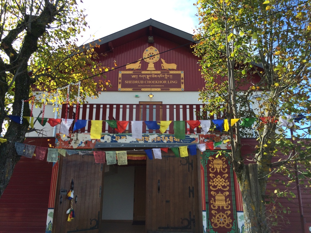 Oh you know. Just a random  Buddhist monastery  on the way to the top of the mountain.