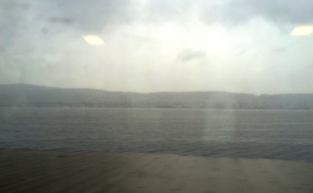Some  Lake Zurich  action. It's a lake surrounded by mountains. Geez, Zurich. Copy Geneva much?