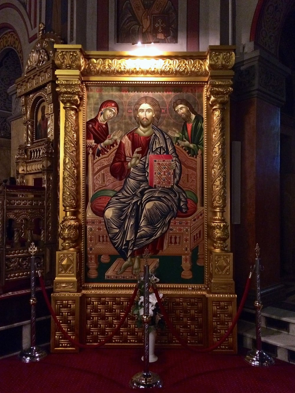 Striking detail in the picture and the frame. Also, Jesus' chair looks like it's probably super comfortable.
