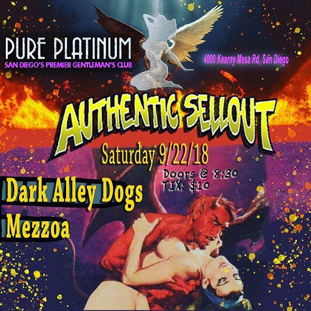 Tomorrow night! At @sdpureplatinum 🤘💀🤘#authenticsellout #punkrock #slabratory #sandiegopunk #punkmusic #1904 #punklife