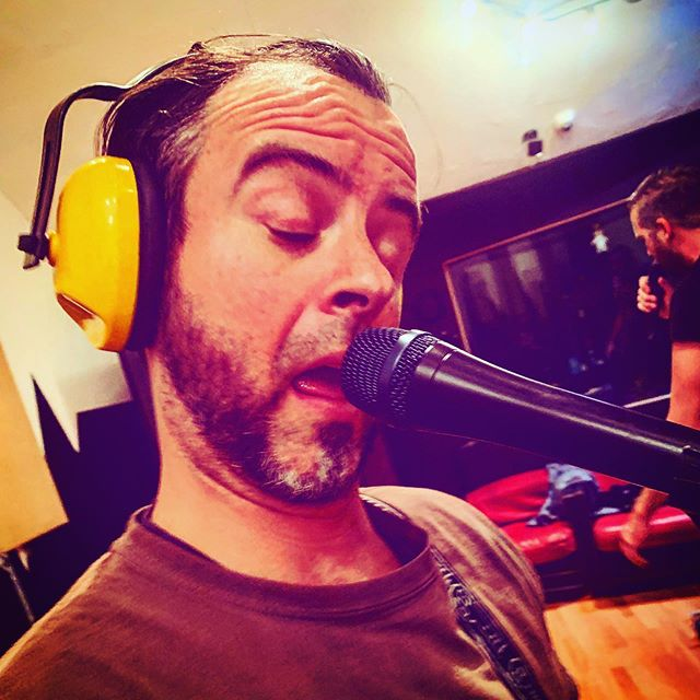 When your really feel the music and get lost in thought. @sulosellout could tell you what @andysellout is thinking about with that big black mic... #happyplace #love #youdontwannaknow #authenticsellout #punkrock #rehearsal #fuckinaround #comedy #blackshaft #lostinthemusic #punks #punklife