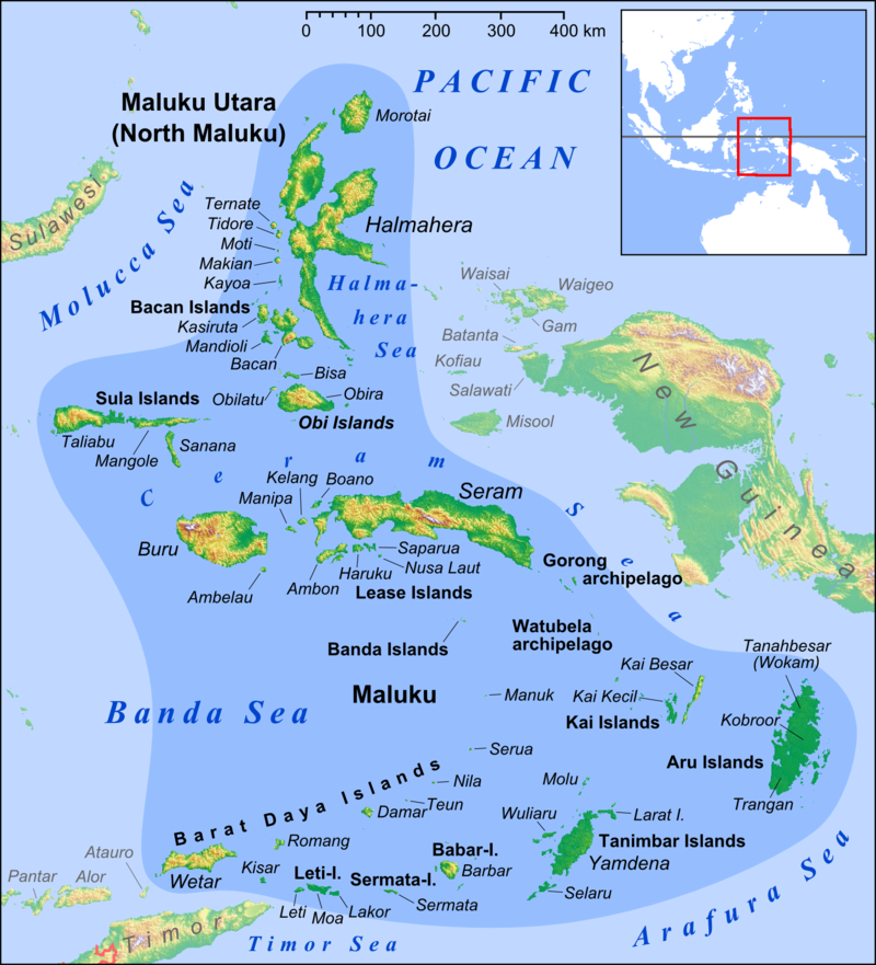 The fabled Spice Islands of Indonesia