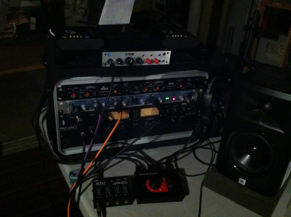 "This is all we had to record The Ordeals 7"" with. In The Basement."