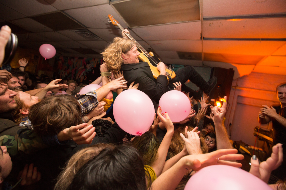 Future Islands busted out the pink balloons and headlined a top secret show at Death by Audio just five days before its doors shut.