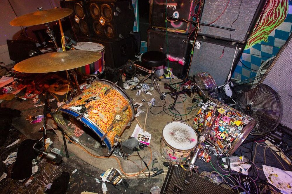 Lightning Bolt played the final set, leaving behind a brilliantly disastrous mess.
