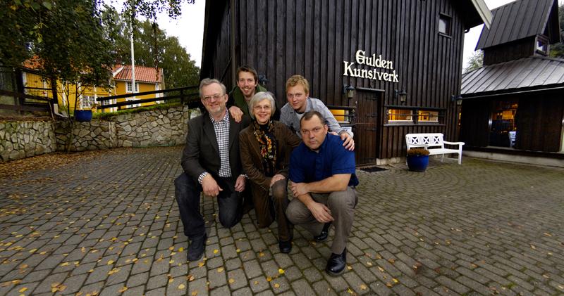Fra venstre: Walter Welo, Erik Welo, Bibbi Lund, Jens Welo, Andreas Devlin  Foto: Nils Maudal