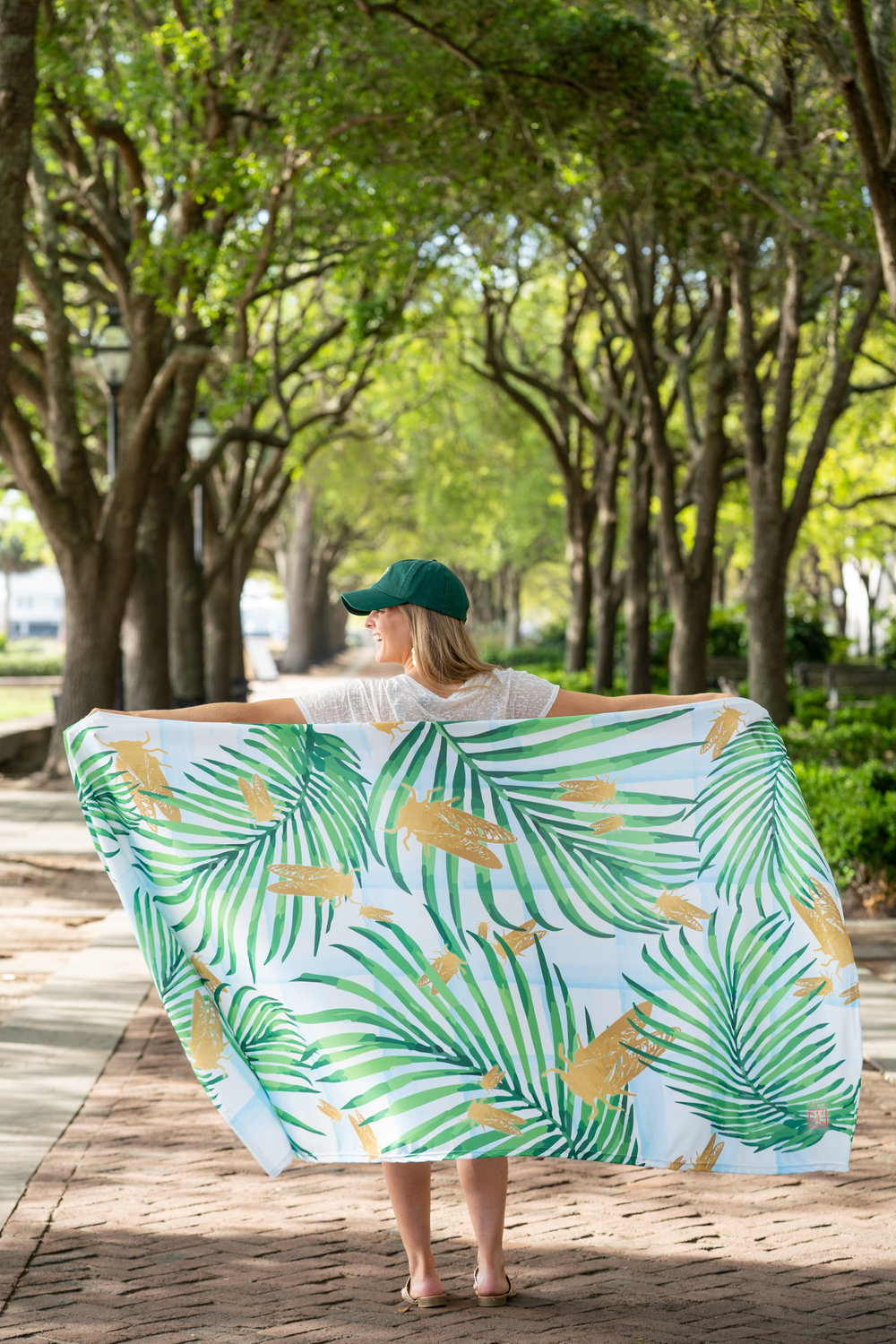 A true Charleston mix...goldbugs, palmetto trees, and lots of sunshine! IT'S WARM, NOW LET'S SWARM! ZAGS x Goldbug Collection