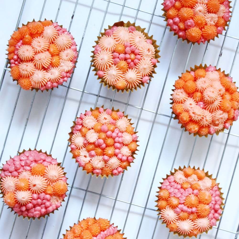 Coral Cupcakes