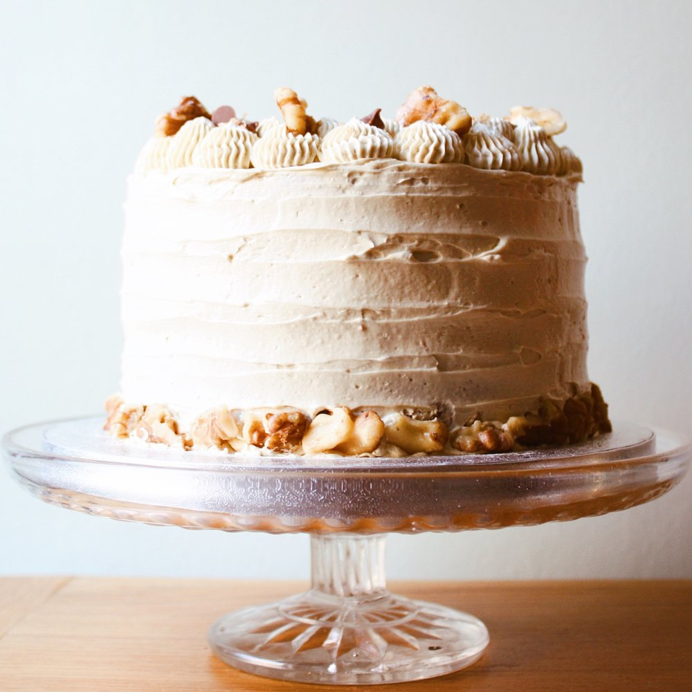 Coffee Walnut Layer Cake