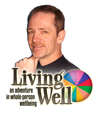 Living Well Logo with Mike SMALL