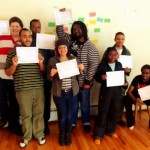 Graduates of EMLA with their certificates