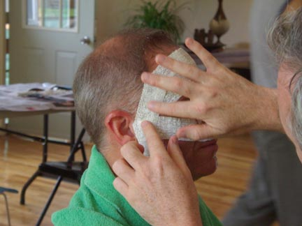 Mask Being Made on a Person's Face