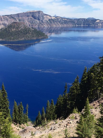 Blue water of Crater Lake