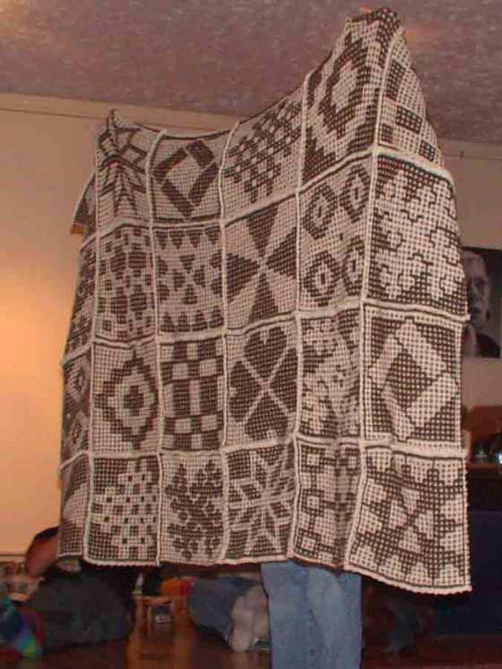 Afgan with squares