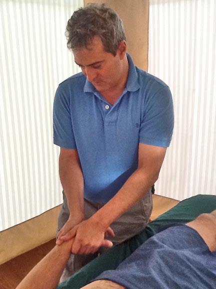 Arnie doing hand massage
