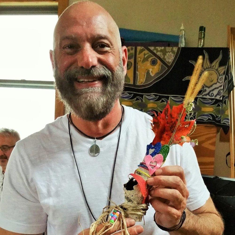 Jay Thomas with Shamanic Object
