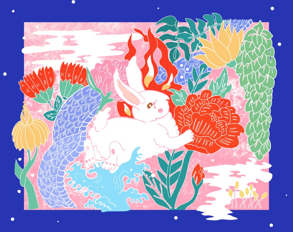 Kelinci Istana (Rabbit palace), 2019, Digital colour