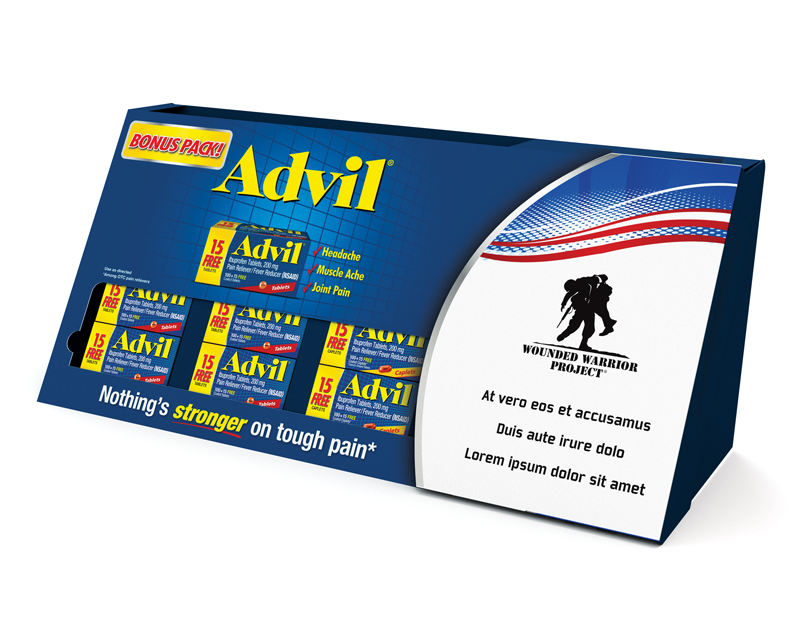 Advil Wounded Warrior Project PDQ Tray