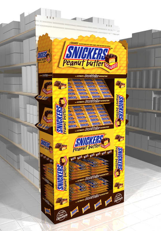 Snickers PB Squared Endcap Concept