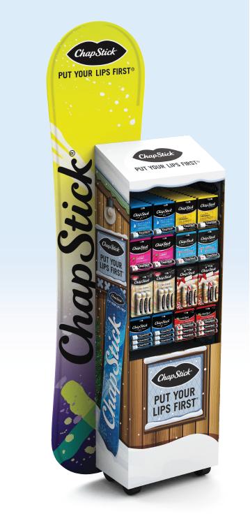 ChapStick Snowboard Replica Floor Stand
