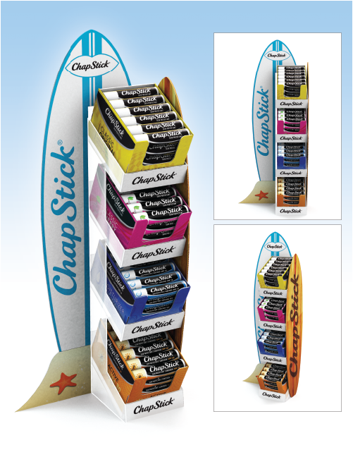 ChapStick Surf Board Replica Counter Unit