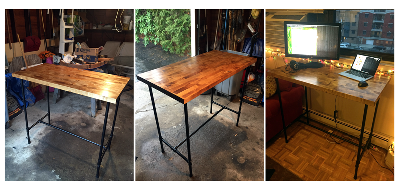 Butcher's Block Stand-Up Desk