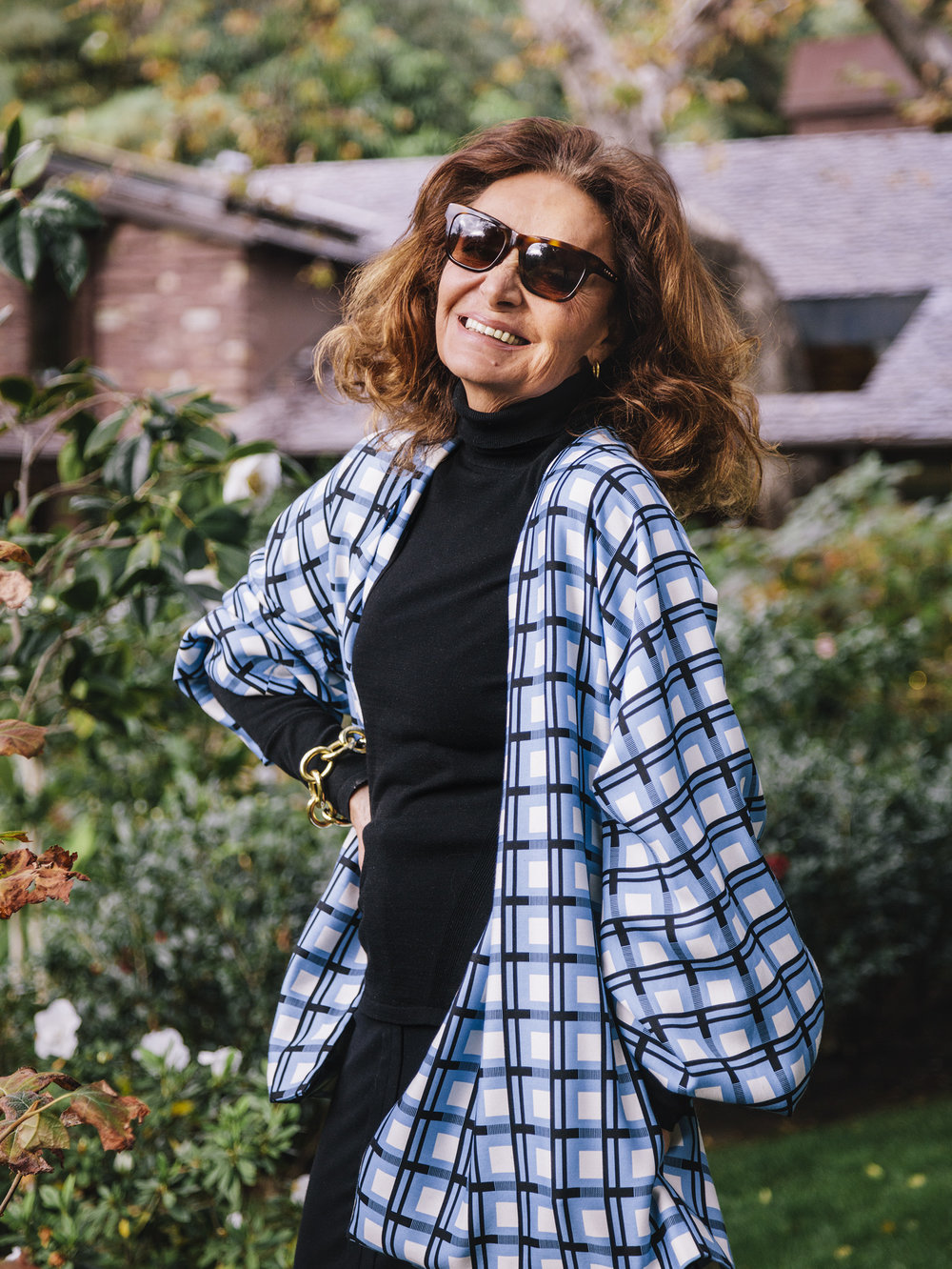 Diane Von Furstenberg - WSJ. MagazineAt her Los Angeles estate.