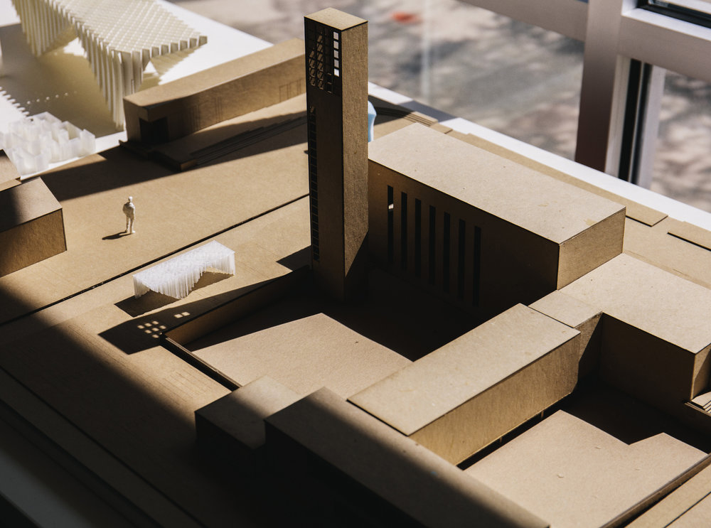 "Architectural model for ""Exhibit Columbus"""