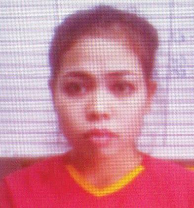 25 year-old accused assassin: Siti Aisyah