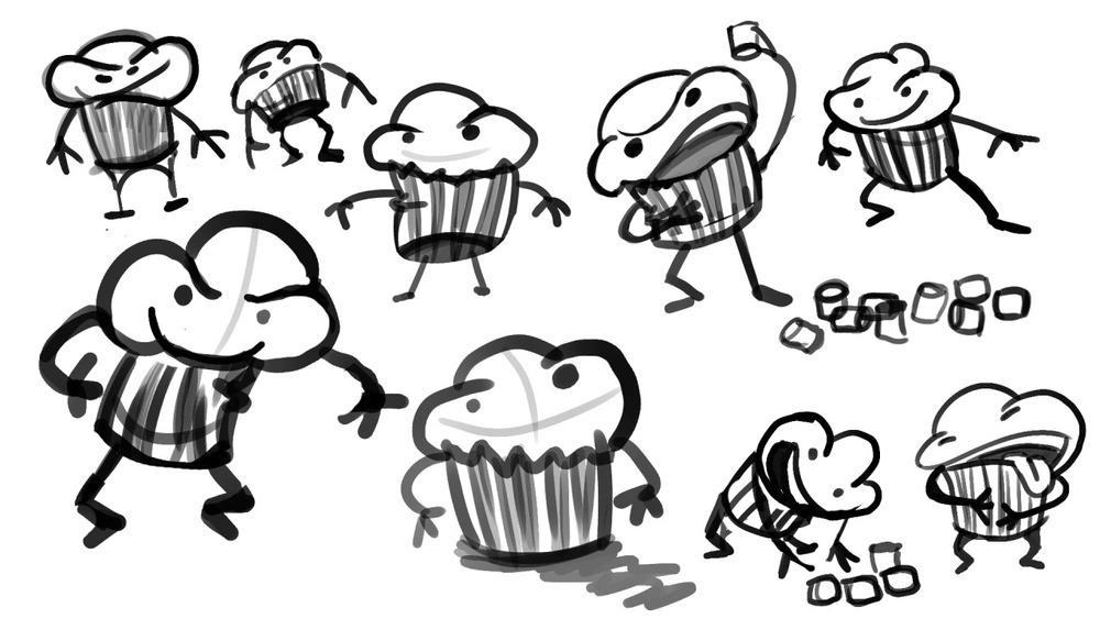 The Mischievous Muffin Man Munches on Mini Marshmallows