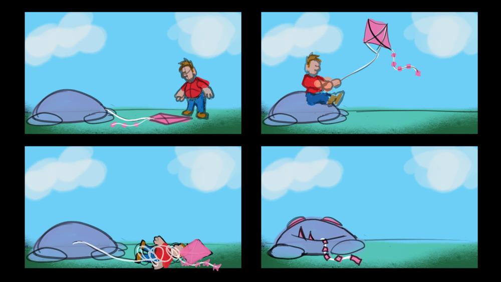 Kite Eating Monster