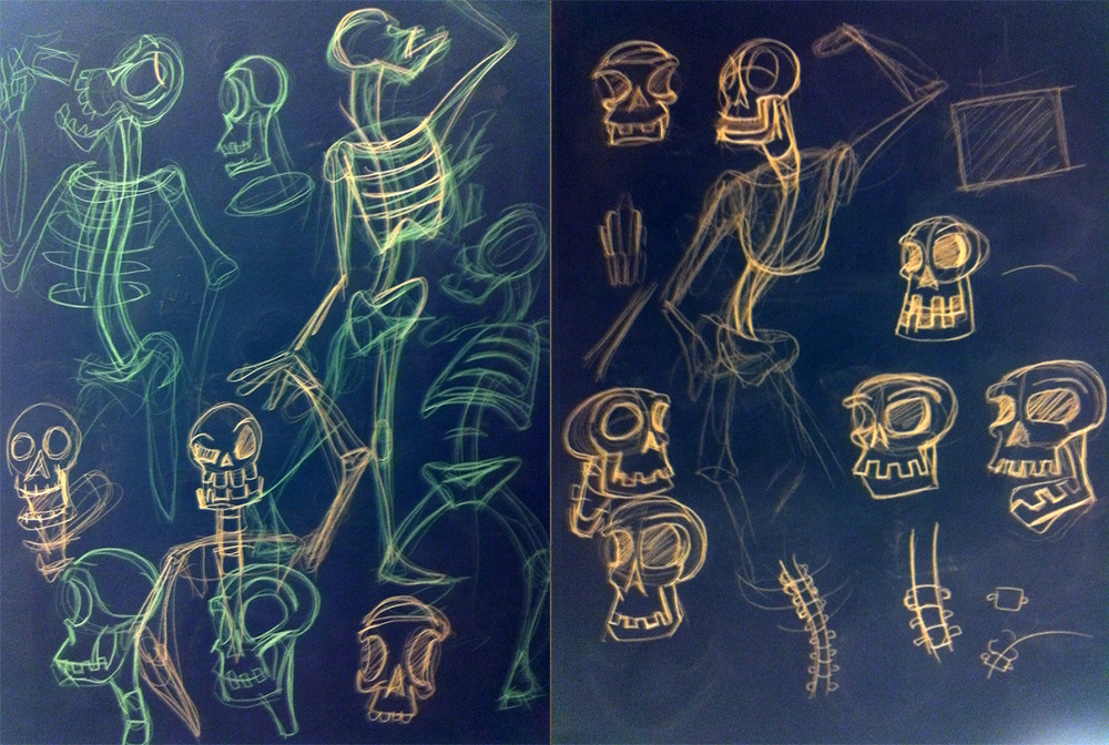 X-Rays of bones or Neon Glowing Skeletons