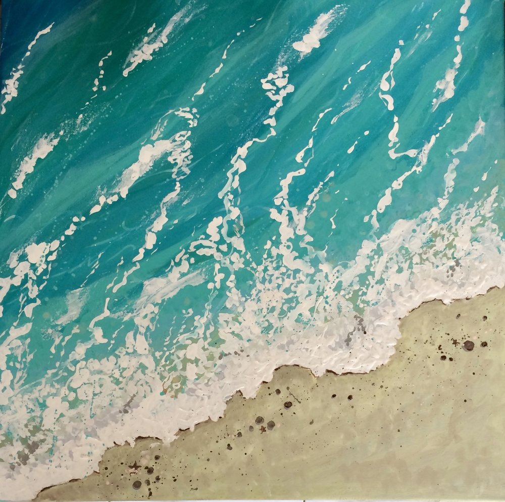 """@april_in_costa_rica: """"Today's painting. I love it! It turned out just like how I imagined it."""""""