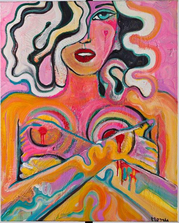 F Element Acrylic on canvas 80x100cm