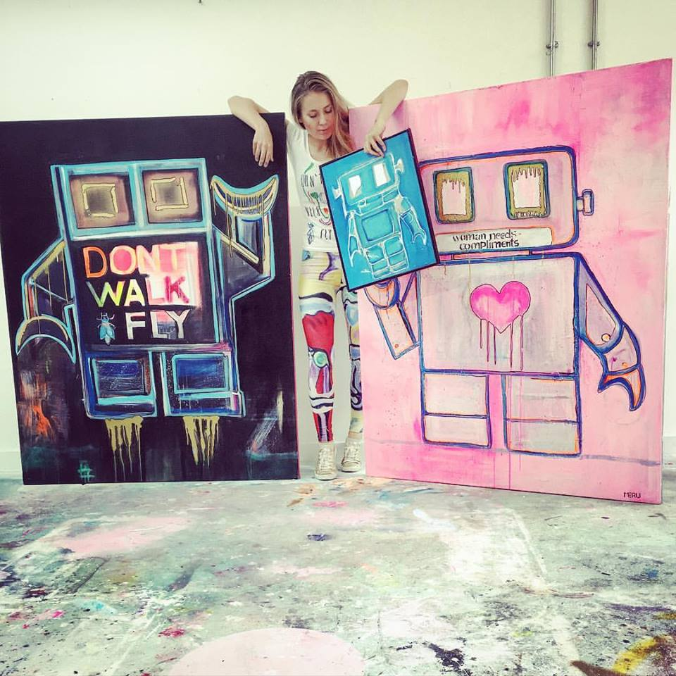 But actually was it just because of London? - I suddenly started painting Robots. The idea was simply born from the inspiration i got from my first 3 months i lived in London 2011.When i arrived back to my Tallinn atelier i had only robotic ideas in my mind.