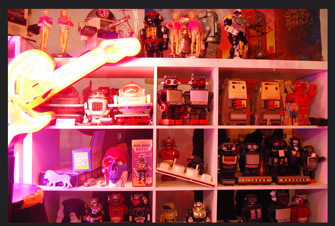 I was obsessed. - Then after that when i moved to London and stepped into the shop in Primrose hill where they sold old robot toys - It was the quirky art, design and found objects shop/gallery by Daniel Poole-suddenly it all made more sense to me. I was obsessed.